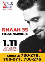 Концерт Димы БИЛАНА постер плакат