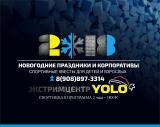 НОВОГОДНИЕ экстрим-праздники в YOLO постер плакат