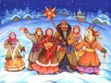 Премьера святочной программы для всей семьи «Коляда пришла!». Ансамбль песни «Отрада» постер плакат