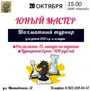 Шахматный турнир «Юный Мастер» постер плакат