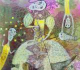 """Демонстрационный мастер-класс от художника Анны Силивончик на выставке """"Воздушные замки"""" постер плакат"""