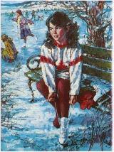 Куда на коньках? Скользкие катки в Сургуте 2019 постер плакат