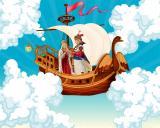 Премьера музыкальной сказки «Летучий корабль». Оркестр «Былина» постер плакат
