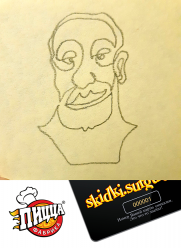 "Творческий конкурс от семейного кафе ""Пицца фабрика"" ® постер плакат"