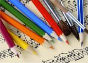 Премьера концертной программы для детей «Рисуем музыку» в исполнении струнного квартета Perfecto постер плакат
