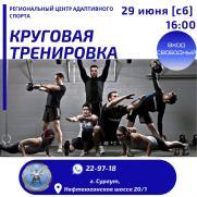 Открытая функциональная тренировка в тренажерном зале постер плакат