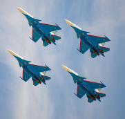 Расписание полетов «Русских Витязей» в Сургуте и Нижневартовске 18 сентября постер плакат